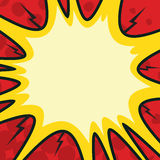 Comic Bang. A background bang image with open center to put text or other graphics surrounded by the bang stock illustration