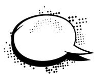 Comic black and white speech bubble. Royalty Free Stock Images