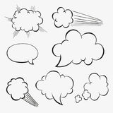 Comic Blank Clouds. In Chernobyl Style Royalty Free Stock Image