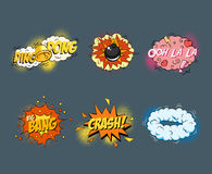 Comic blank text speech bubbles in pop art style royalty free illustration