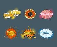 Comic blank text speech bubbles in pop art style Royalty Free Stock Photos