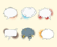 Comic blank text speech bubbles in pop art style Stock Image