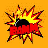 Comic Bomb Illustration Royalty Free Stock Photo