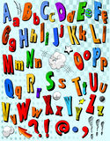 Comic book alphabet Stock Photo