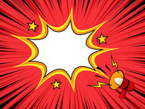 Free Comic Book Background With Megaphone Announcement Royalty Free Stock Photos - 81661768