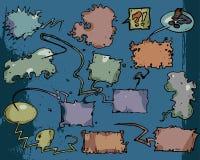 Comic book balloons Stock Image