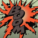 Comic Book Boom Explosion Stock Images
