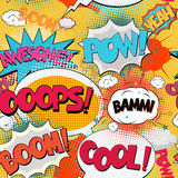 Comic Book Bubble Text Royalty Free Stock Photography