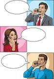 Comic book callers stock illustration
