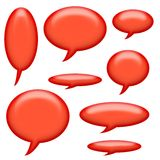 Comic Book Captions and Speech Bubbles Royalty Free Stock Photos