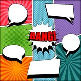 Comic book colorful background Royalty Free Stock Image