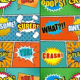 Comic book colorful seamless pattern vector illustration