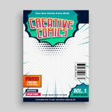 Comic book cover template design vector illustration