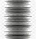 Comic Book Design Element horizontal speed lines. Comic Book Design Element Speed Lines Explosion Manga cartoon on transparent background. Vector Illustration Royalty Free Stock Images