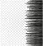 Comic Book Design Element horizontal speed lines. Comic Book Design Element Speed Lines Explosion Manga cartoon on transparent background. Vector Illustration Royalty Free Stock Photo