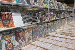 Comic Book display stand Royalty Free Stock Image
