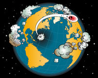 Comic book - Earth. Additional  format Illustrator 8 eps Royalty Free Stock Photos