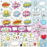 Comic Book Elements Vector Pack Stock Images