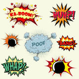 Comic book exclamations royalty free stock image