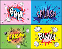 Comic book explosion Stock Images