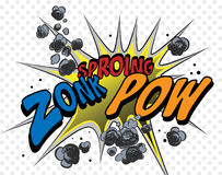 Comic book explosion. And expressions isolated over white background. Additional  format Illustrator 8 eps Royalty Free Stock Photos