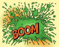 Comic book explosion. Isolated over yellow background. Additional  format Illustrator 8 eps Stock Photos