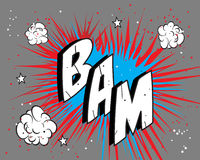 Comic book explosion. Comic book expression isolated over gray background. Additional  format Illustrator 8 eps Royalty Free Stock Images