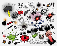 Comic book explosion. Additional  format Illustrator 8 eps Royalty Free Stock Image