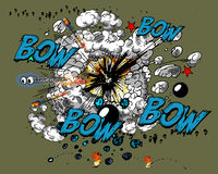Comic book explosion Royalty Free Stock Photos