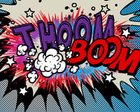Comic book explosion Royalty Free Stock Photography
