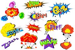 Comic Book Explosion Royalty Free Stock Images