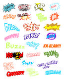 Comic book explosion. Vector illustration on white background Stock Image