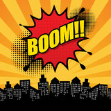 Comic book explosion abstract Stock Photography