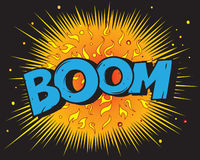 Comic book explosion - Boom Royalty Free Stock Image