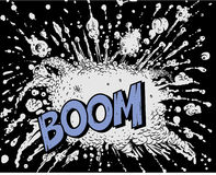 Comic book explosion - Boom. Additional   format Illustrator 8 eps Royalty Free Stock Images