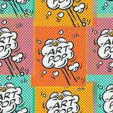 Comic book explosion seamless pattern Stock Image