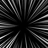 Comic book explosion superhero pop art style black and white radial lines background. Manga or anime speed frame Stock Photos