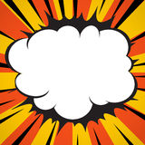 Comic Book Explosion Superhero Pop Art Style Radial Lines Background. Royalty Free Stock Image