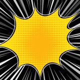 Comic book explosion superhero pop art style radial lines background. Manga or anime speed frame Royalty Free Stock Photos