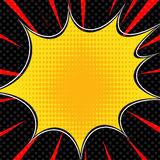 Comic book explosion superhero pop art style radial lines background. Manga or anime speed frame stock illustration
