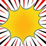 Comic book explosion superhero pop art style radial lines background. Manga or anime speed frame.  stock illustration