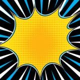 Comic Book Explosion Superhero Pop Art Style Radial Lines Background. Manga Or Anime Speed Frame Royalty Free Stock Photo