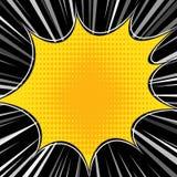 Comic Book Explosion Superhero Pop Art Style Radial Lines Background. Manga Or Anime Speed Frame Royalty Free Stock Photos