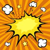 Comic book explosion, vector illustration Royalty Free Stock Photo