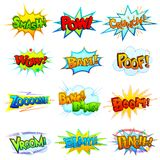 Comic Book Explosion. Vector illustration of collection of comic book explosion Royalty Free Stock Photos