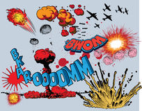 Comic book explosion - war elements. Additional  format Illustrator 8 eps Stock Image