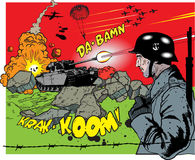 Comic book explosion - war elements. Additional  format Illustrator 8 eps Royalty Free Stock Photography