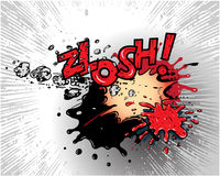 Comic book explosions. Comic book explosion isolated on light background Stock Photo