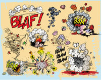 Comic book explosions Royalty Free Stock Image