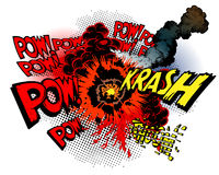 Comic book explosions stock illustration